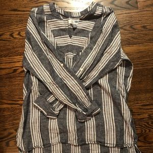 Chambray and White Striped Tunic